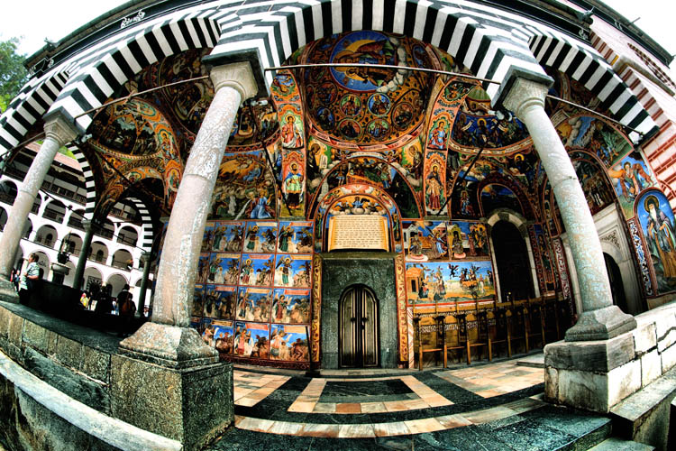"photo ""Details of the Rila Monastery, Bulgaria"" tags: architecture, genre, misc.,"