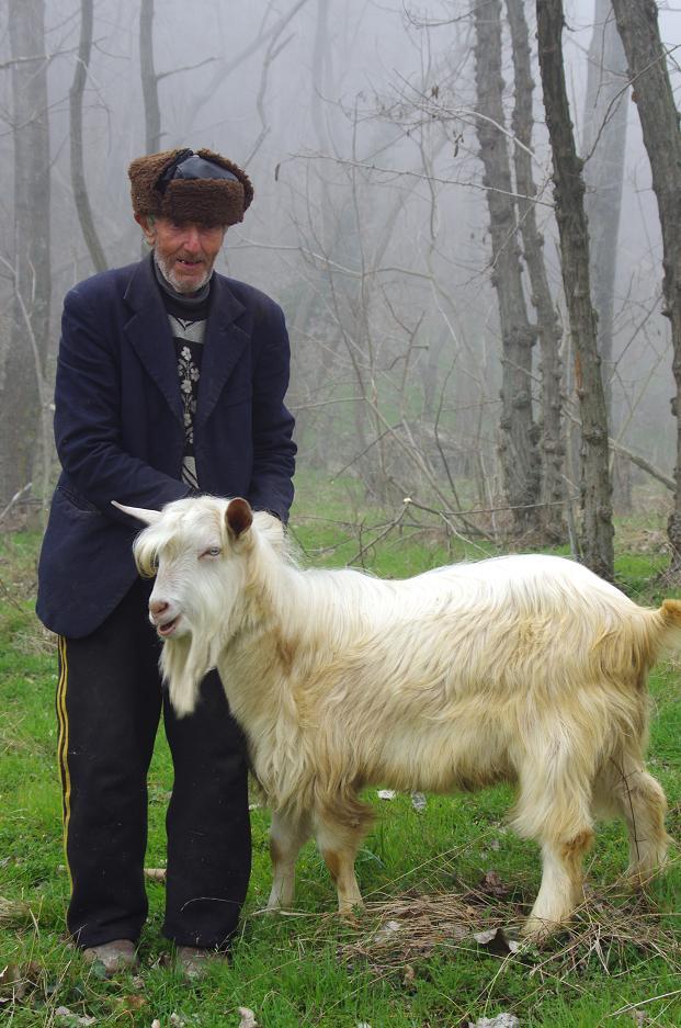 """фото """"Дядо с коза"""" метки: портрет,"""