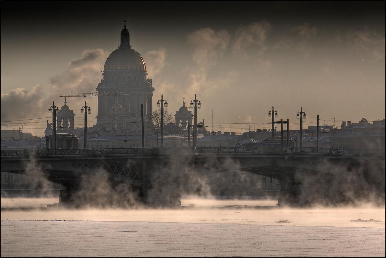"""фото """"Благовещенский мост, рассвет"""" метки: пейзаж, город, путешествия,"""