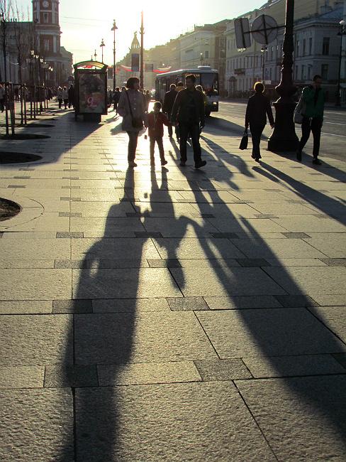 "photo ""Nevsky street"" tags: city, street, reporting,"
