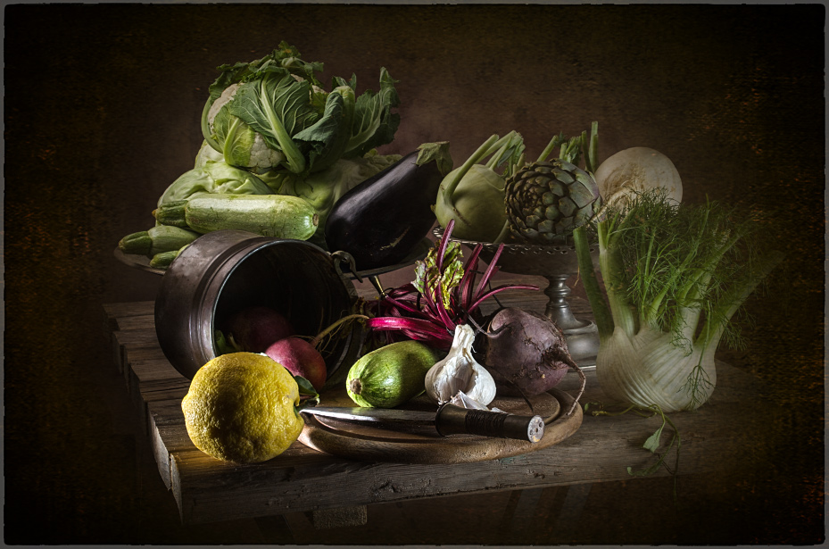 "photo ""With vegetables"" tags: still life, old-time, With vegetables"