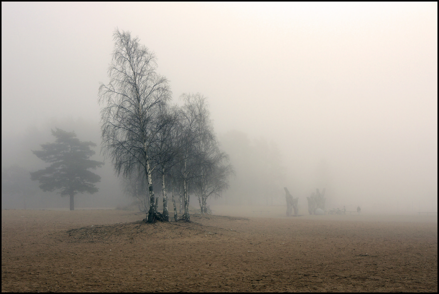 "photo ""finniish seaside, fog"" tags: landscape, nature,"