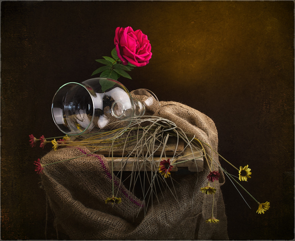 "photo ""With flowers"" tags: still life, old-time, With flowers"