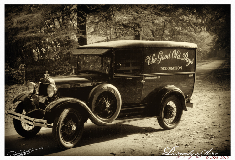 "photo ""1930 Ford Model A Panel Delivery"" tags: technics, street, 1929, Ford Model A, Vintage cars"