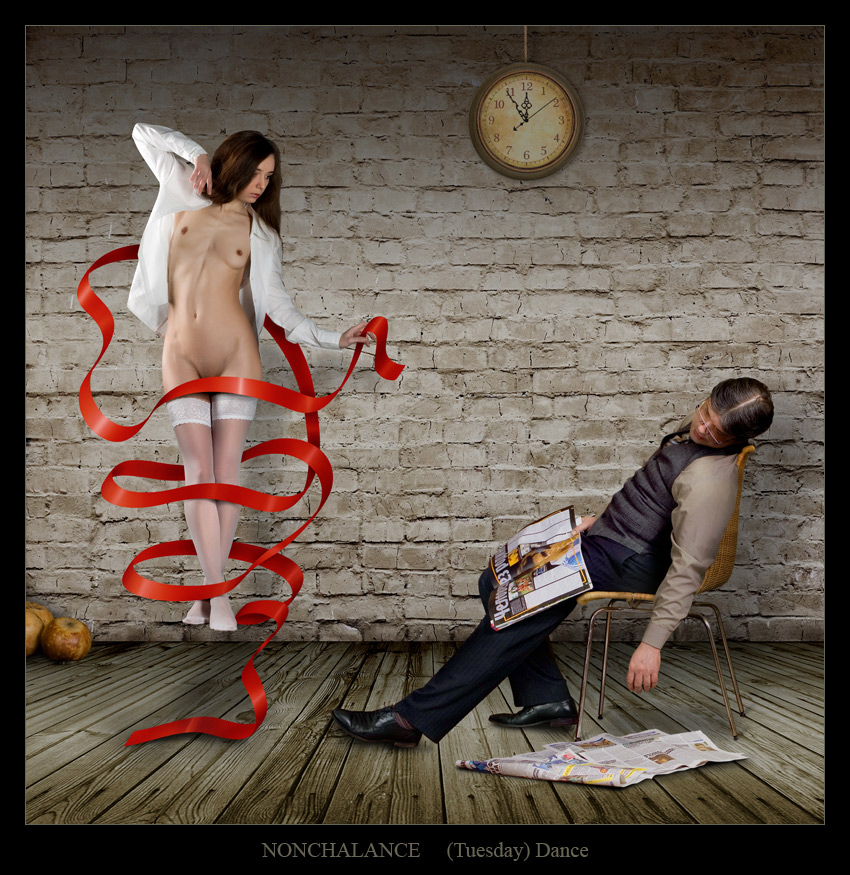 "photo ""Nonchalance 2"" tags: digital art, montage, nude,"