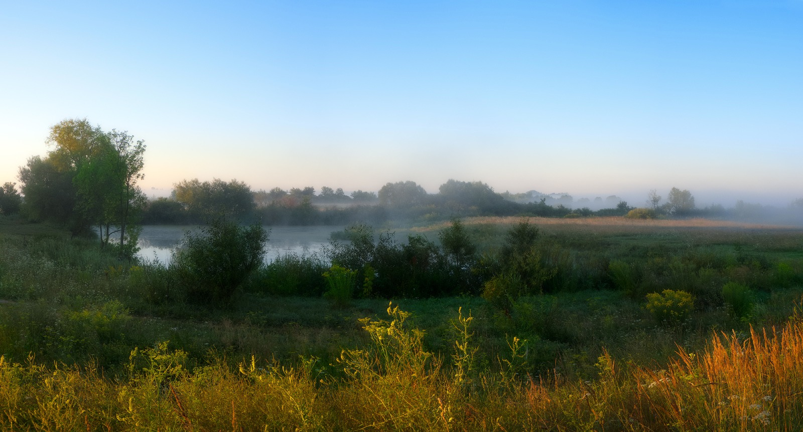 "photo ""About the light and shadow ..."" tags: landscape, nature, travel, fog, morning, river, sun"