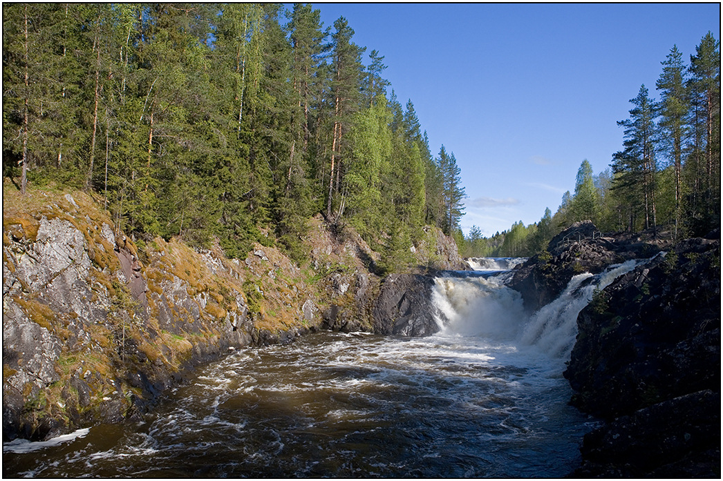 "photo ""Kivach"" tags: landscape, Karelia, river, водопад"