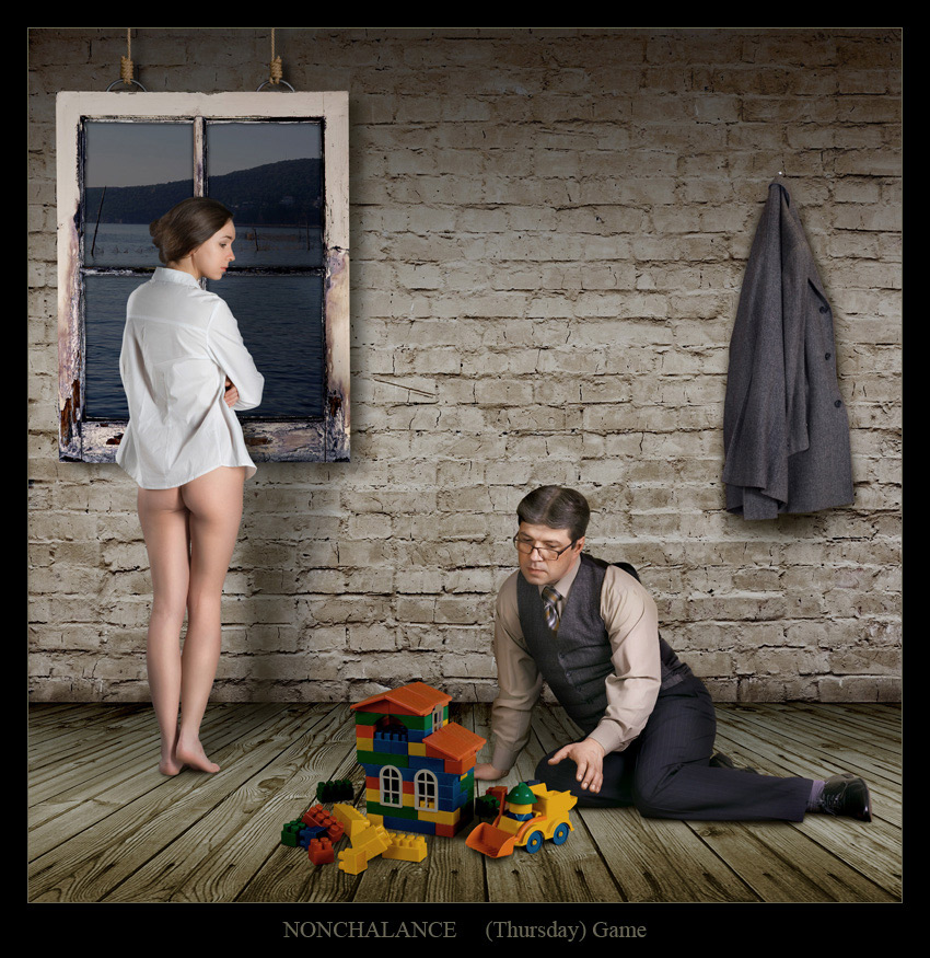 "photo ""Nonchalance 3"" tags: montage, digital art, nude,"