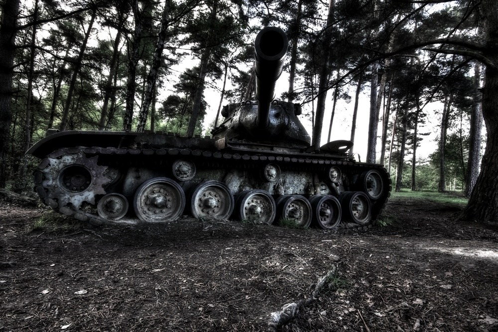 "photo ""relic from the 2nd world war"" tags: reporting, old-time, technics,"
