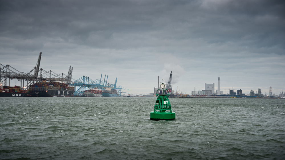 """фото """"The new """"Maasvlakte 2"""", Rotterdam."""" метки: пейзаж, репортаж, Europe, Rotterdam, harbour, industrial"""