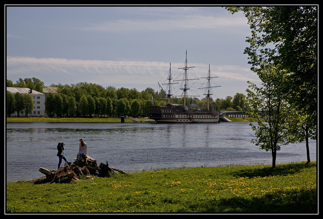 "photo ""Spring photo shoot en plein air"" tags: genre, landscape, girls, river, Великий Новгород"