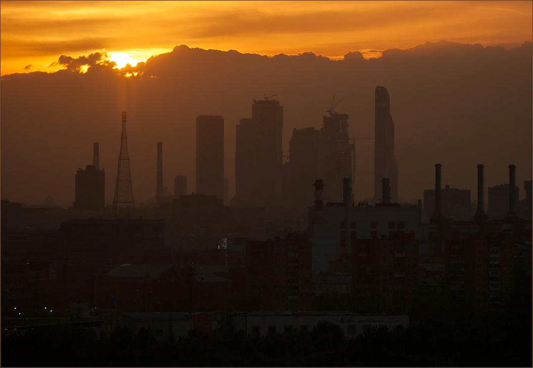 "фото ""The Sunset"" метки: пейзаж, город, закат"