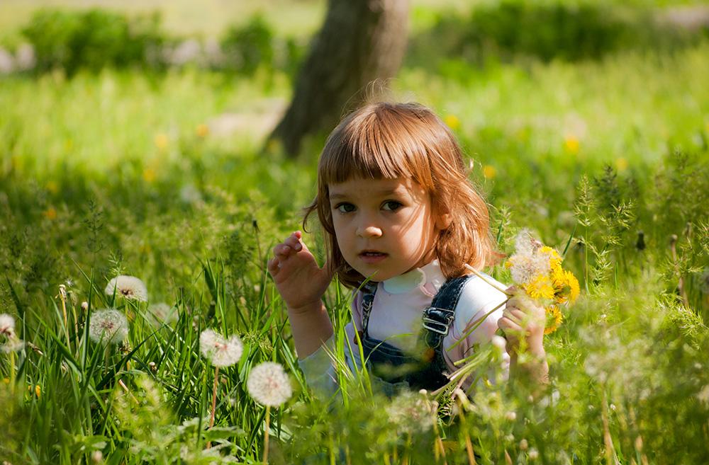 """фото """"первые цветы"""" метки: портрет, одуванчики"""
