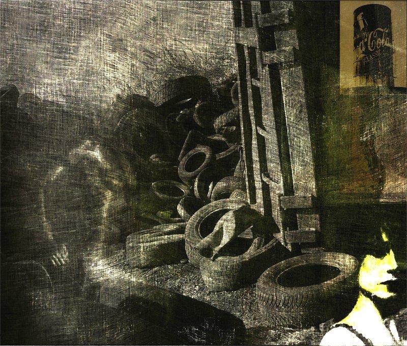 "фото ""Décharge"" метки: digital art, Art, Collage, argentic, artistic, body, color, dark, digital, fine art, nudes, numeric, paint, photography, photomanipulation, surrealist, woman"