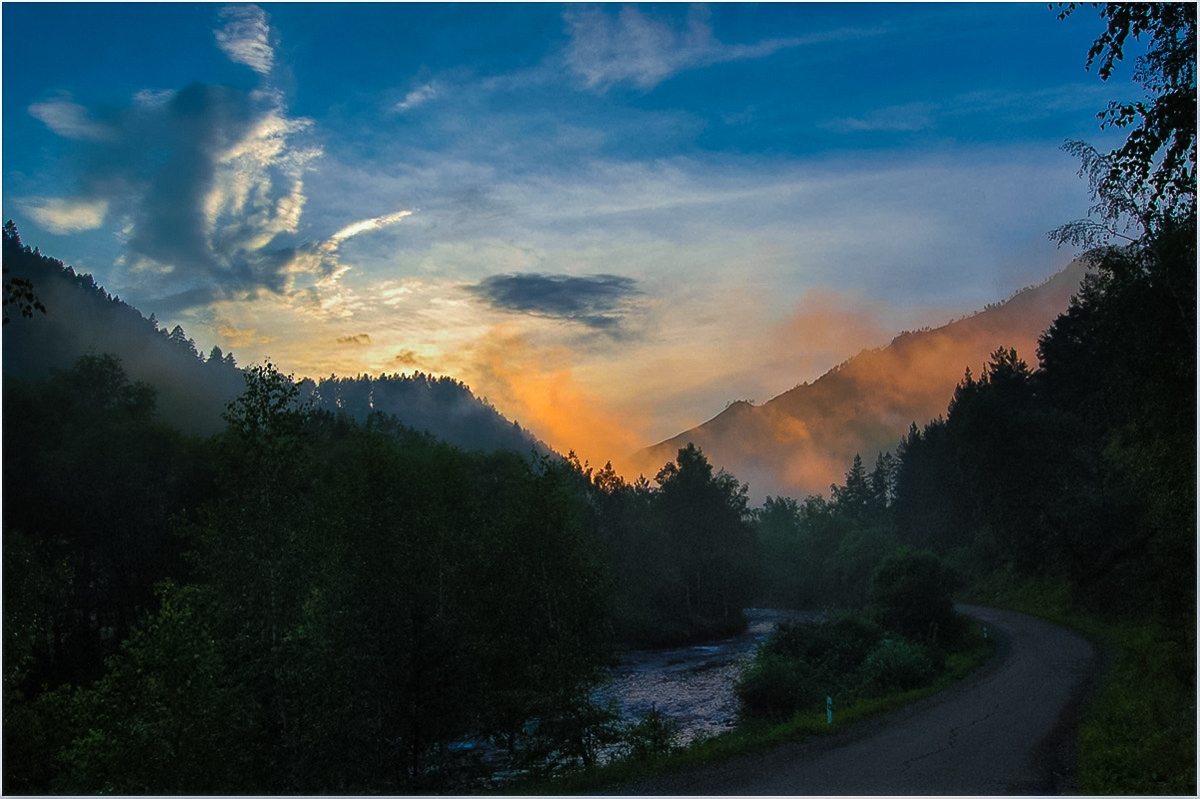 прямоугольное вечер в горах картинки том, что