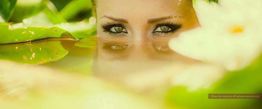 """фото """"Predator"""" метки: портрет, гламур, бьюти, вода, девушка, озеро, цветы"""