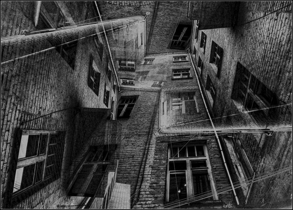 "photo ""Windows"" tags: digital art, black&white,"