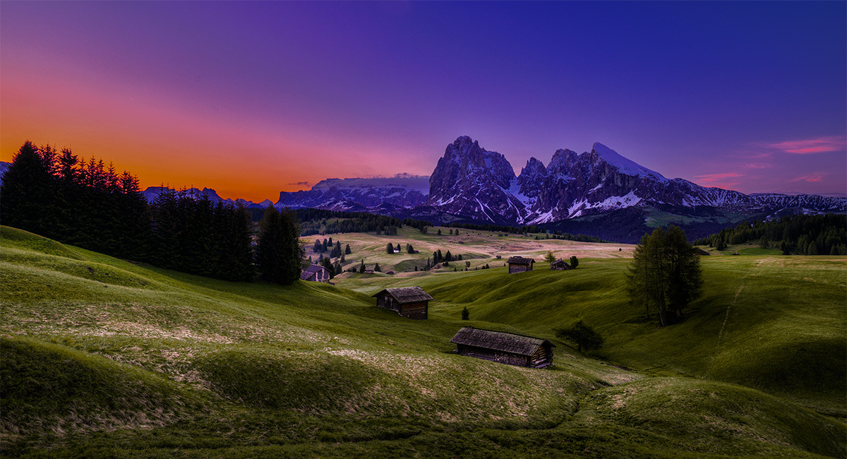 "photo ""Early Morning"" tags: landscape, Dolomits, Europe, mountains, night, summer"