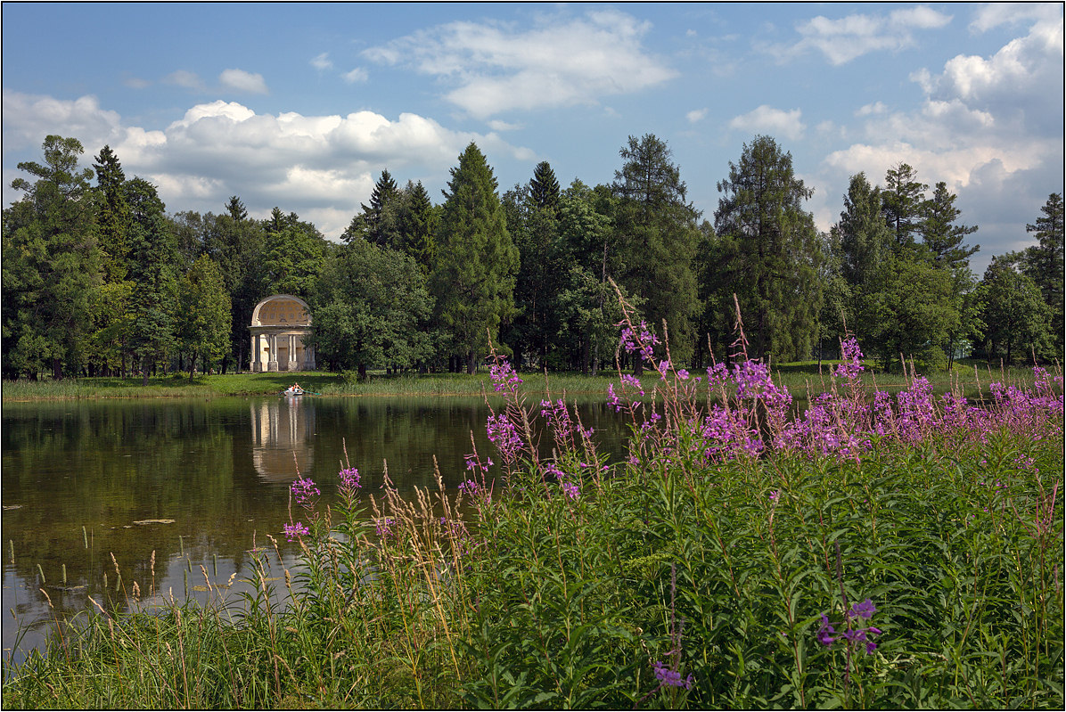 """photo """"Sketches of Gatchina Park (2)"""" tags: landscape, architecture, Гатчина, Павильон Орла"""