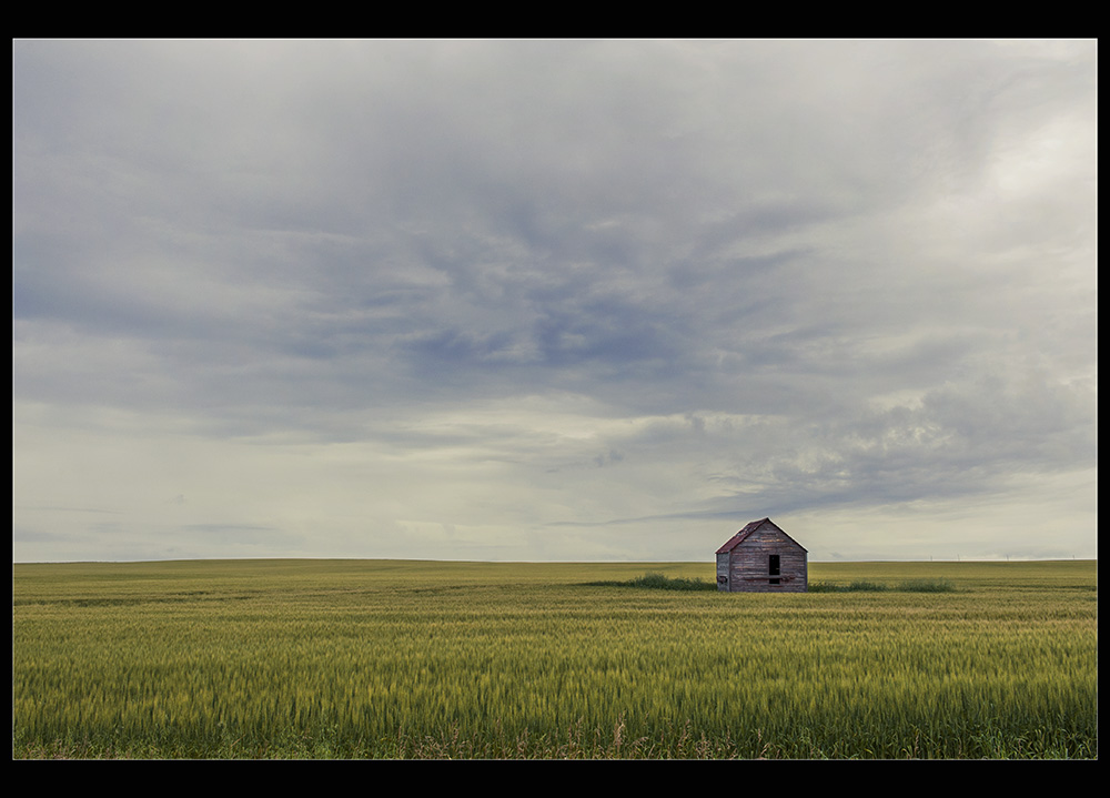 "photo ""Under Pairie skies"" tags: landscape, old-time,"