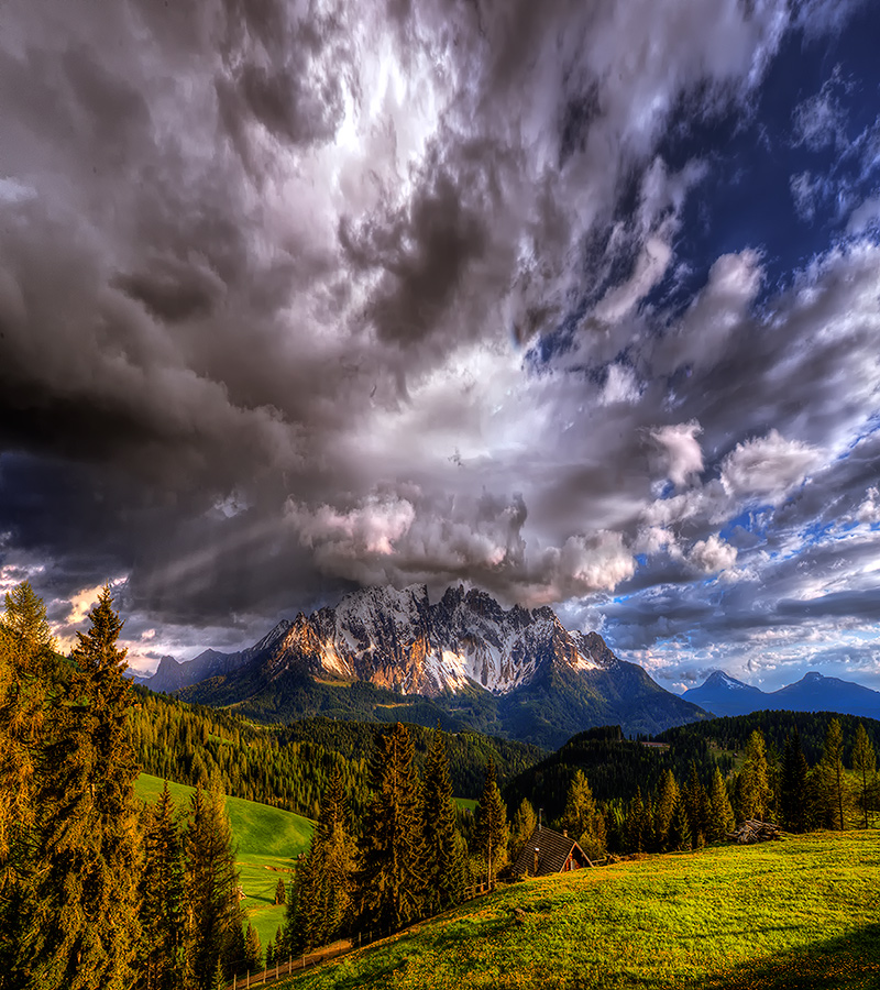 "фото ""***"" метки: пейзаж, Dolomits, Europe, forest, summer, горы, облака, снег"