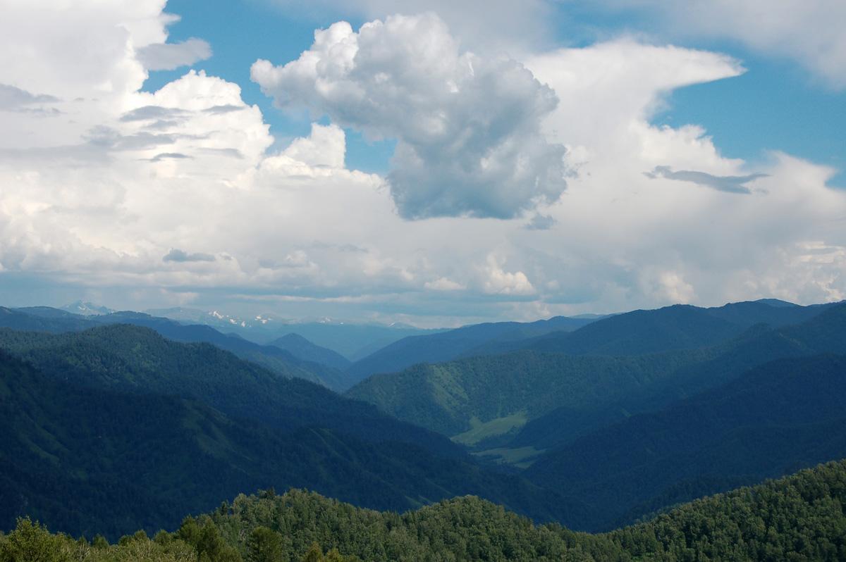 """фото """"а где то далеко снега..."""" метки: пейзаж, горы, лес, лето, облака"""