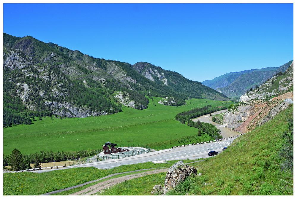 "photo ""***"" tags: landscape, travel, Asia, clouds, mountains, river, sky, Алтай, туризм"