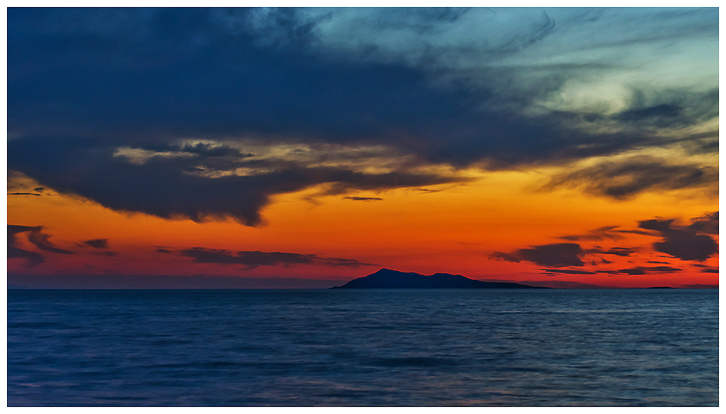 "photo ""***"" tags: landscape, travel, nature, Asia, clouds, lake, night, summer, sunset, water, Алаколь, Казахстан, горизонт, туризм"