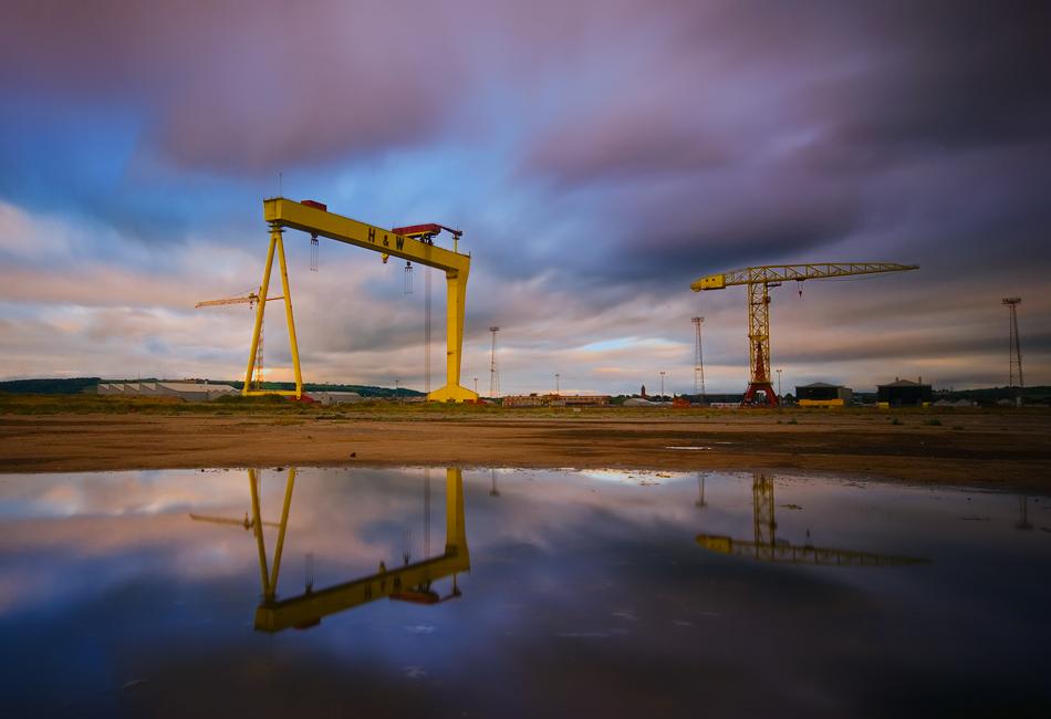 """фото """"Belfast Crane"""" метки: архитектура,"""