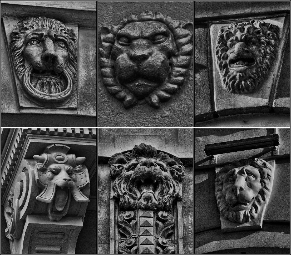 "photo ""Petersburg lions"" tags: architecture, black&white, city,"