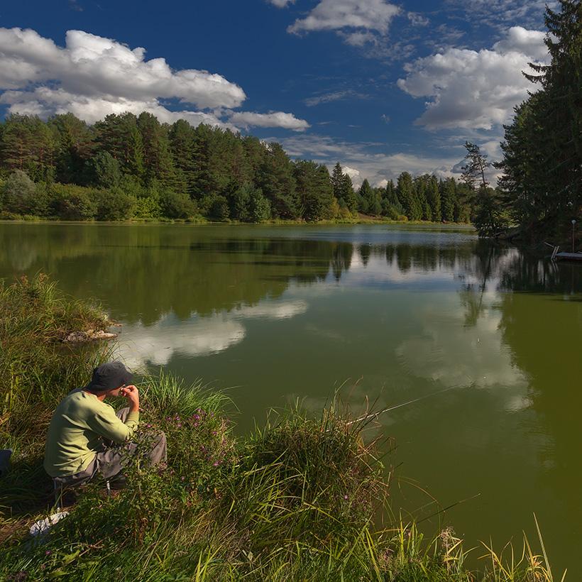 Рыбак пейзаж фото