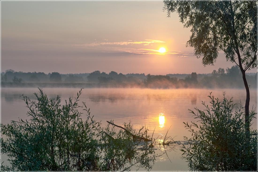 "photo ""***"" tags: landscape, nature, summer, sunrise, water"