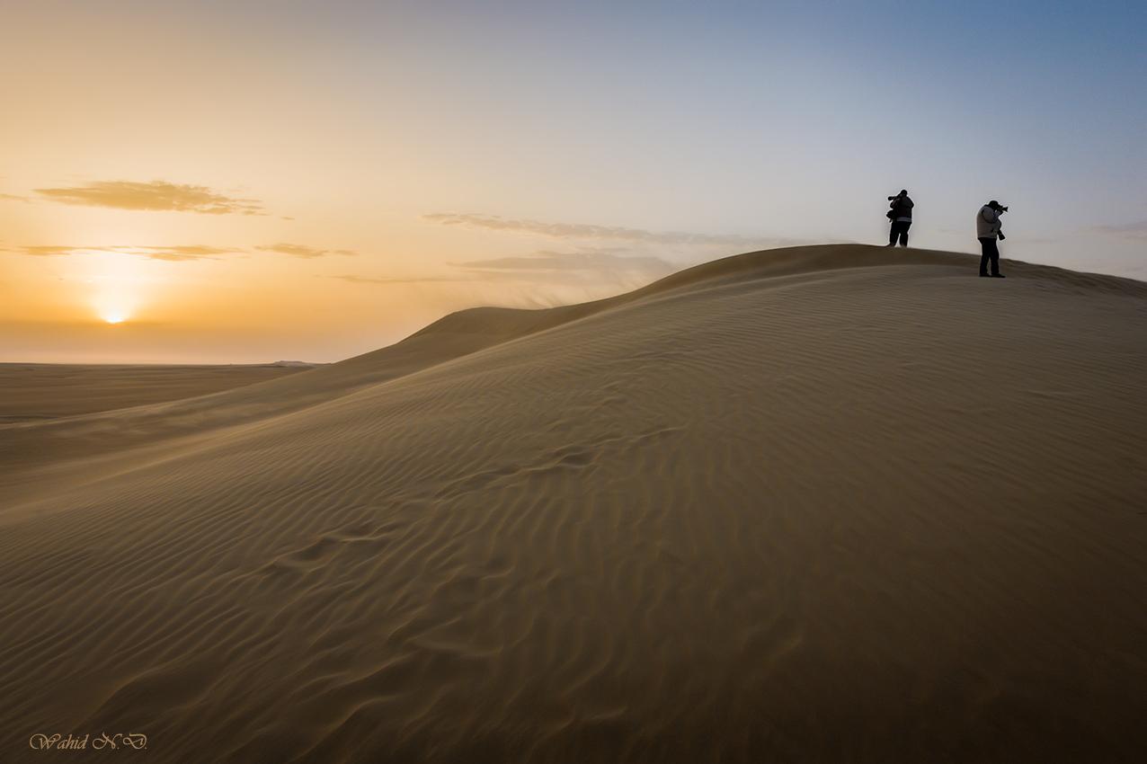 "photo ""Sunrise Photographers"" tags: landscape, travel, nature, Africa, Sand, desert"
