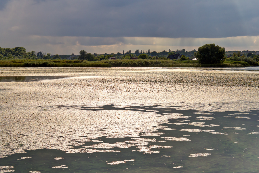 """photo """"***"""" tags: landscape, Dnieper, Ukraine, clouds, gulf, river, sky, water, Запорожье"""