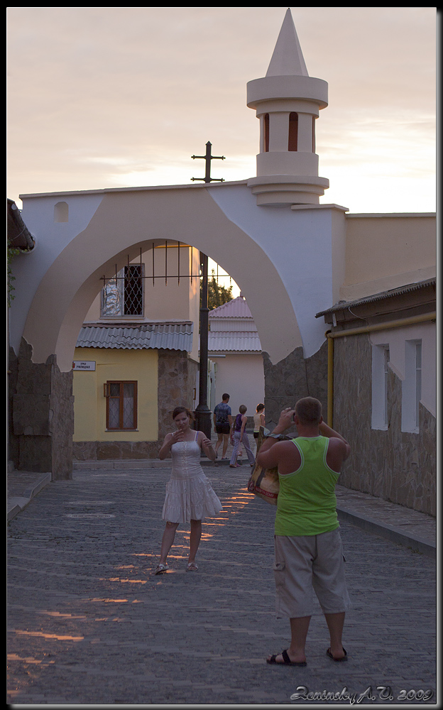 "photo ""Sunset photo shoot :) in Old Town"" tags: travel, street, architecture, Europe, building, people, summer, sunset, tower"