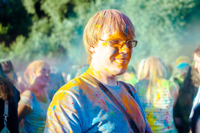 "photo ""Holi"" tags: portrait, reporting, genre, Russia, summer"