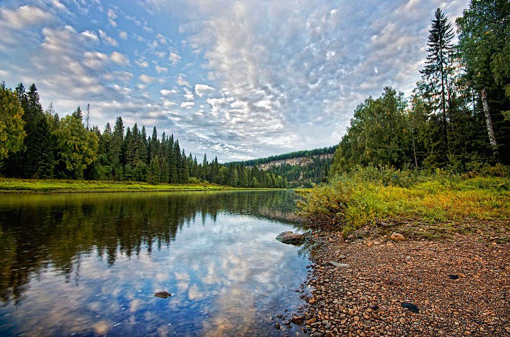 "фото ""Река Усьва"" метки: пейзаж, природа,"