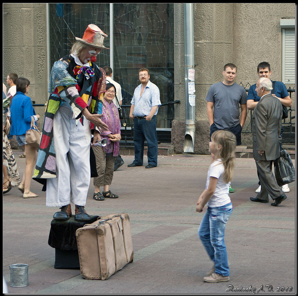 "photo ""Hello!"" tags: street, city, travel, Europe, building, children, people, summer"