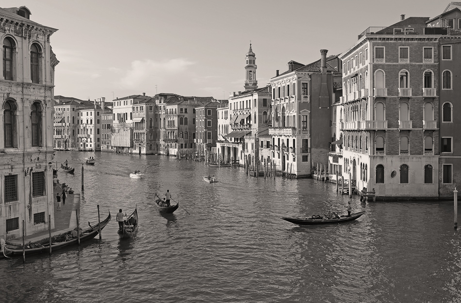 "photo ""Grand Canal"" tags: black&white, landscape, architecture, Italy, Venice"