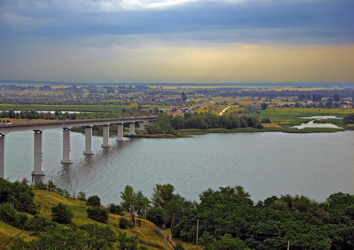 "фото ""Два берега"" метки: пейзаж, мост, река"