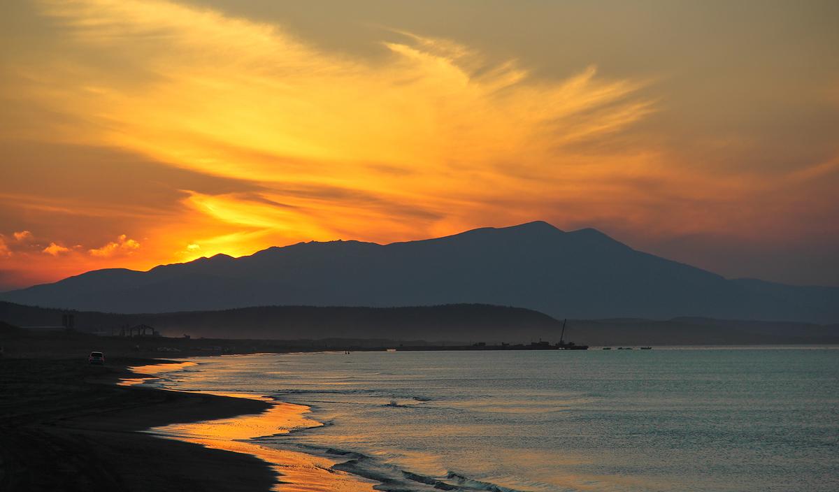 """фото """"пылающий закат"""" метки: пейзаж, закаты"""