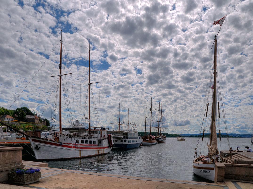 """фото """"норвежская зарисовка"""" метки: пейзаж, путешествия, Норвегия, Осло, парусник, порт"""