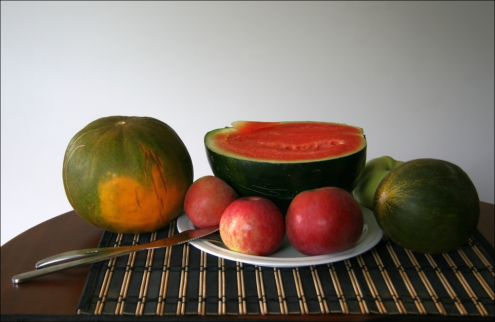 "photo ""Still life with watermelon"" tags: still life,"