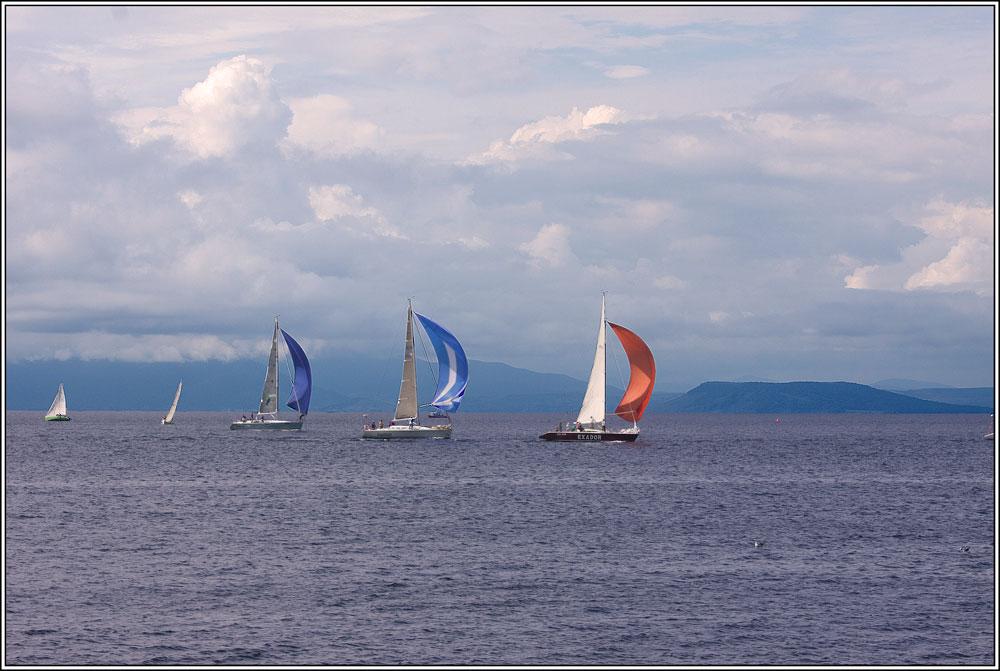 "photo ""***"" tags: landscape, sport, autumn, clouds, sea, яхты."