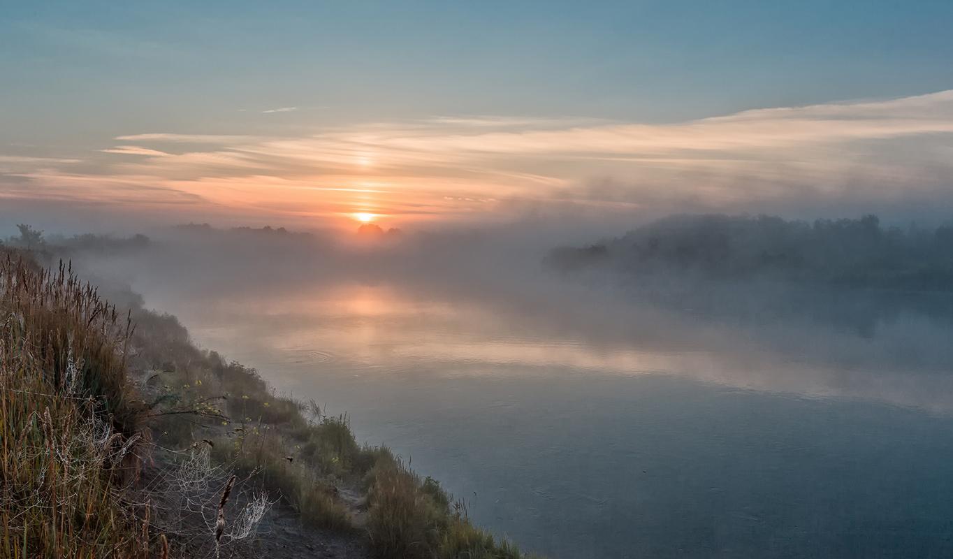 """фото """"***"""" метки: пейзаж, Сура, вода, утро"""