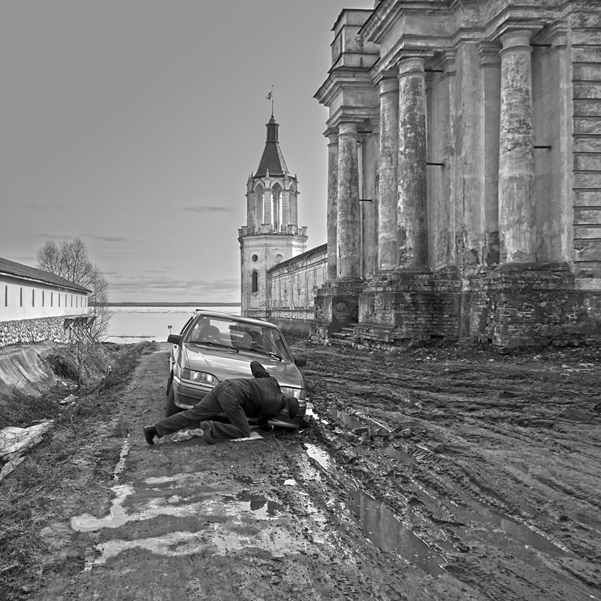 "фото ""Дороги России"" метки: черно-белые,"
