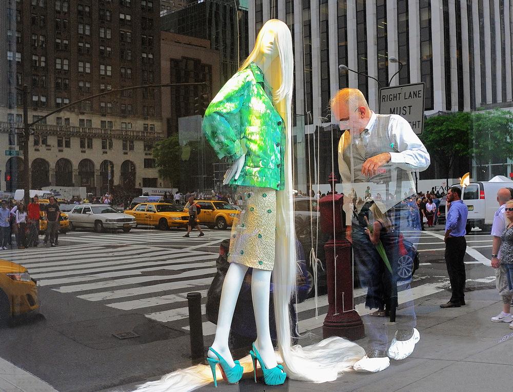 """фото """"Работа стилиста"""" метки: город, Нью-Йорк, отражения"""