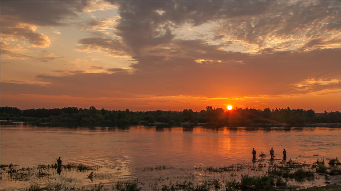 """фото """"Клевое место"""" метки: пейзаж, природа, вода, лето, рассвет, рыбалка"""
