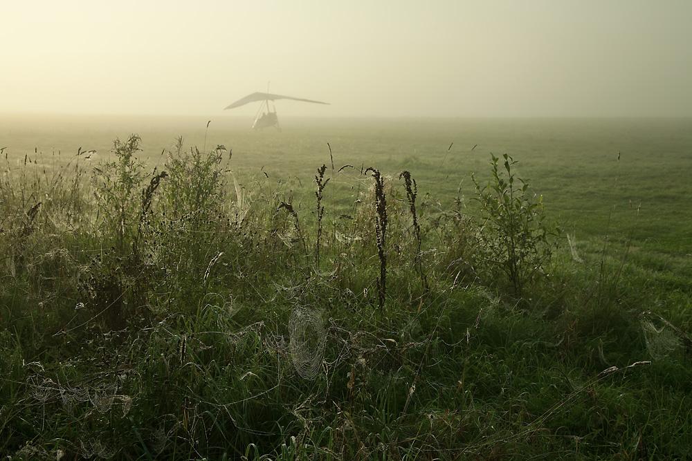 """фото """"Утро туманное"""" метки: пейзаж, Беларусь, дельтаплан, туман, утро"""