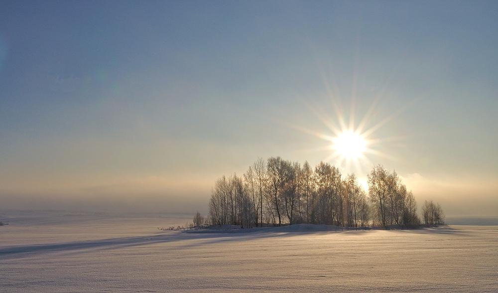 """фото """"Снежное безмолвие"""" метки: пейзаж, зима, рассвет., солнце"""